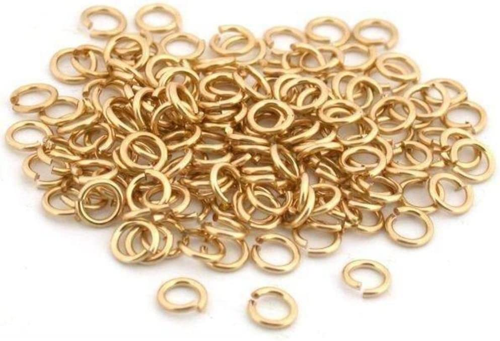 Milwaukee Mall 150 Jump Rings 14K Gold sale 4mm Clasp Jewelry Filled Open