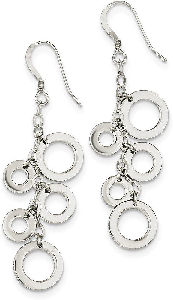 Sterling Silver Multi-Circle Earrings Elegant Cheap bargain Drop