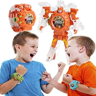 2in1 Deformed Watch Projection Toy Light Projector Robot Early Education Educational Toys Autobots