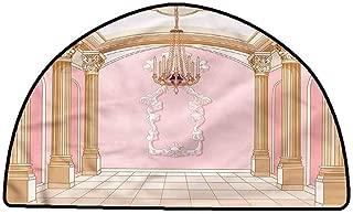 Office Chair Floor Mat Foot Pad Princess,Chandelier Ceiling Castle,W31