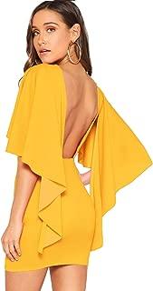 backless cape dress