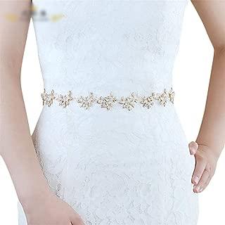 ZYDP Bridal Wedding Belt Dress Accessories Crystal Alloy Belt (Color : Purple)