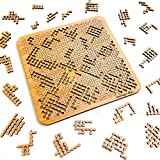 """Mind Bending Wooden Jigsaw Puzzle   Hard Puzzles for Adults   100 Pieces   11.3"""" x 11.3"""""""