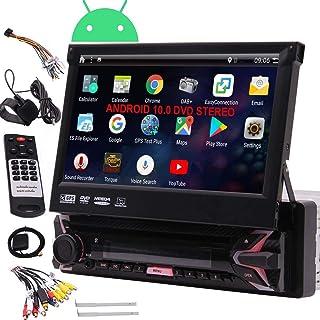 EINCAR 7' HD DVD Spieler Einzel Din Android 7.1 Quad Core CPU Autoradio GPS Navigationsempfänger mit Stereo GPS RDS WiFi OBD SWC Spiegel, 1 GB RAM 16 GB ROM, Bluetooth, externes Mikrofon