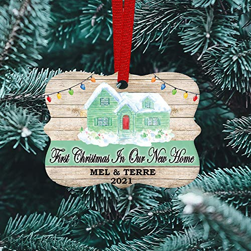 Our 1st Christmas in Our New Home Personalized Ornament 2020