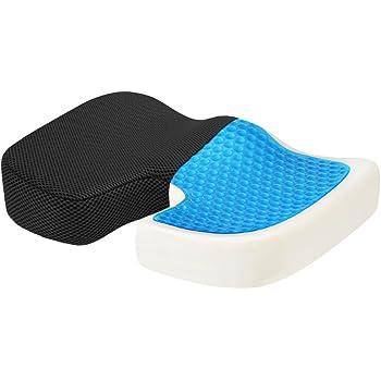 Sciatica Coccyx Pillow 1, Seat Cushion 45x35cm Orthopedic Memory Foam Seat Cushion Ergonomic Office Chair Cushion for Tailbone Pain for Computer Car Bus Plane Park Bench