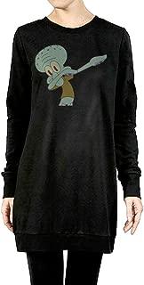 Dabbing Squidward Cotton Women Hoodie Sweatshirt Pullover O Neck Long Sleeve