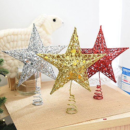 Bureze de Sapin de Noël étoile Fer étoile de Noël Sapin de Noël pour DIY Accessoires