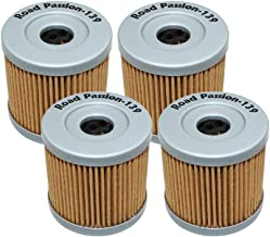 Road Passion High Performance Oil Filter for SUZUKI LTR450 QUADRACER 450 2006-2009 / LTR450 QUADRACER LIMITED EDITION 450 2008(pack of 4)