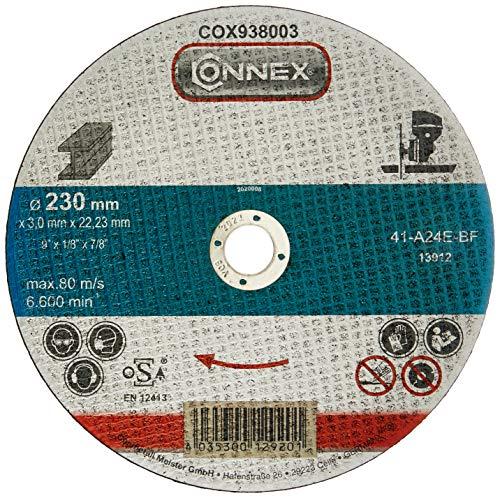 Connex COX938008 Trennscheibe Metall, DSA zertifiziert, Ø 230 mm, 5 Stück
