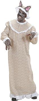 Drôle Hommes-Costume-Grand méchant loup grand-mère-taille M//L rotkäppchens grand-mère