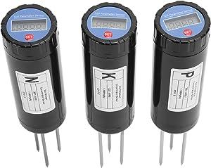01 Soil Sensor Soil Tester with Storage Box Nutrient Intelligent Fertilizer Detector Meter NPK Sensor Built-in BatterylGardening Tool for Farms, Gardens and Lawns