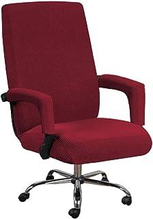 Housse de chaise de bureau housse de protection /élastique pour chaise dordinateur /à dossier haut housse de protection antid/érapante pour chaise dordinateur L, noir