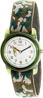 Boy's Kids T78141 Green Cloth Quartz Fashion Watch