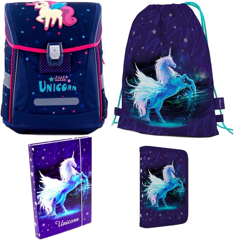 Einhorn Unicorn Unicorn Unicorn Pferd Pony Horse 4 Teile Set 3D Schulranzen RANZEN Tasche TORNISTER B01EP0JOES | Won hoch geschätzt und weithin vertraut im in- und Ausland vertraut  457d74