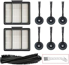 Lemige 10 Pack Replacement Filter Side Brush for Shark ION Robot S87 R85 RV850 Vacuum Cleaner, 1 Main Brush & 2 Pack HEPA Filter & 6 Side Brush & 1 Clean Brush
