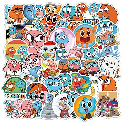 DSSJ Sticker Pack [50Pcs] Cartoon Comedy Wonderful World Graffiti Sticker Luggage Laptop Skateboard Waterproof Sticker