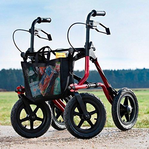 DIETZ REHA Produkte Freizeit-Rollator, Gehhilfe Leichtgewichtrollator nur 8,2 kg, Ankipphilfe faltbar & extra große Räder