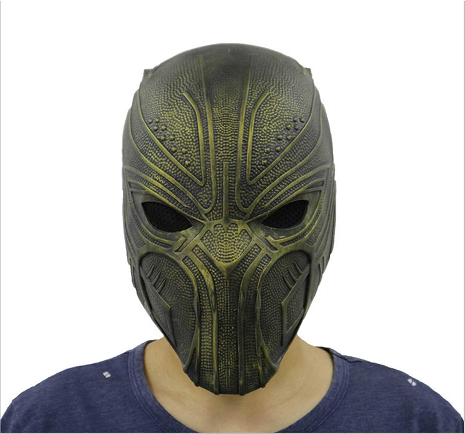 Hcoser Endgame Black Panther Mask T'Challa Helmet Latex Halloween Cosplay Costume Props Party for Adult