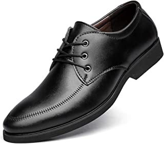 SHENTIANWEI Business Oxford for Men Formal Dress Shoes Lace Up Microfiber Leather Pointed Toe PU Lined Solid Color Intimate Foot Anti Slip (Color : Black-2, Size : 6.5 UK)