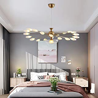 HAIXIANG Glass Peacock Feather Pendant Lamp Ceiling Lighting Chandelier LED Light Fixtures Bedroom Dining Room Living Room Office Restaurant Bar Cafe
