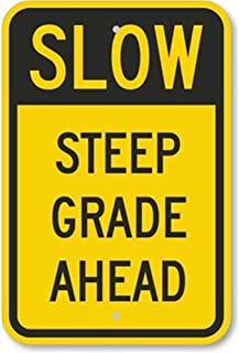 XCVBN CWSY Tin Metal Sign Slow Steep Grade Ahead Duty Mil Home Decoration Thanksgiving Christmas Wall Art Stickers 8x12 inches