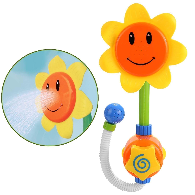 ENLI ひまわりおふろおもちゃ 可愛い バストイ 角度調節可能 水遊びおもちゃ