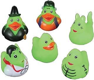 Rhode Island Novelty Mini Glow in The Dark Halloween Rubber Ducks - Set of 24 Duckies/Duckie/Ducky