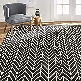 Home Dynamix Premium Orin Contemporary Modern Area Rug, 5'2'x7'4' Rectangle, Black/White