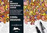 1960s Designs: Marker Colouring Card Book (Multilingual Edition): marker Colouring Cards