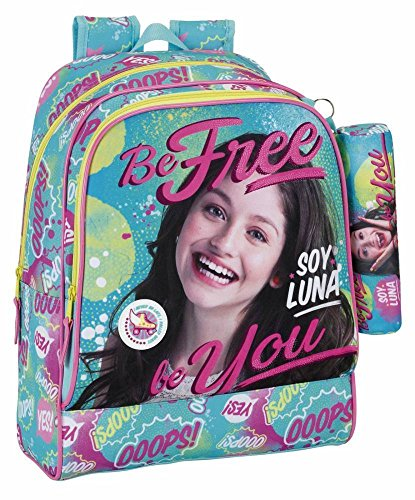 Je suis Luna 611658538 Be Free Day Pack adaptable a carro, bleu/rose