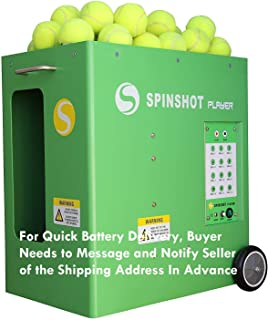 Spinshot-Player Tennis Ball Machine (Best Seller Ball Machine in the World) [Leave Seller Message for Quick Battery Delivery Address]