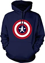 Captain America Hoodie Marvel Comics Official Classic Movie Pullover Sweatshirt
