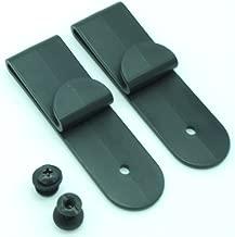 Quick Clip Pro J Clips Style Holster Under Belt Kydex Leather, Black w/Binding Post Screws Hardware