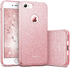 ESR iPhone 7 Case,Glitter Sparkle Bling Case [Three Layer] for Girls Women [Shock-Absorption] for 4.7