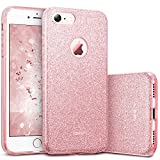 "ESR Glitter Case for iPhone 8/7 Case, Bling Sparkle Designer Case Shining Fashion Style for iPhone 8/7 4.7"", Rose Gold"