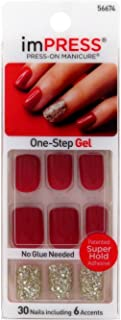 Kiss Products Tweetheart False Nail, 30 nails with 6 accents