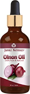 Jadole Naturals, 100% Pure & Natural Onion Oil ideal for home recipe mixture to customize your Hair Oil 30 ml