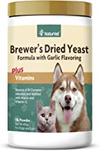 NaturVet – Brewer's Dried Yeast Formula with Garlic Flavoring – Plus Vitamins – Supports Healthy Skin & Glossy Coat – Fortified with B-1, B-2, Niacin & Vitamin C – for Dogs & Cats