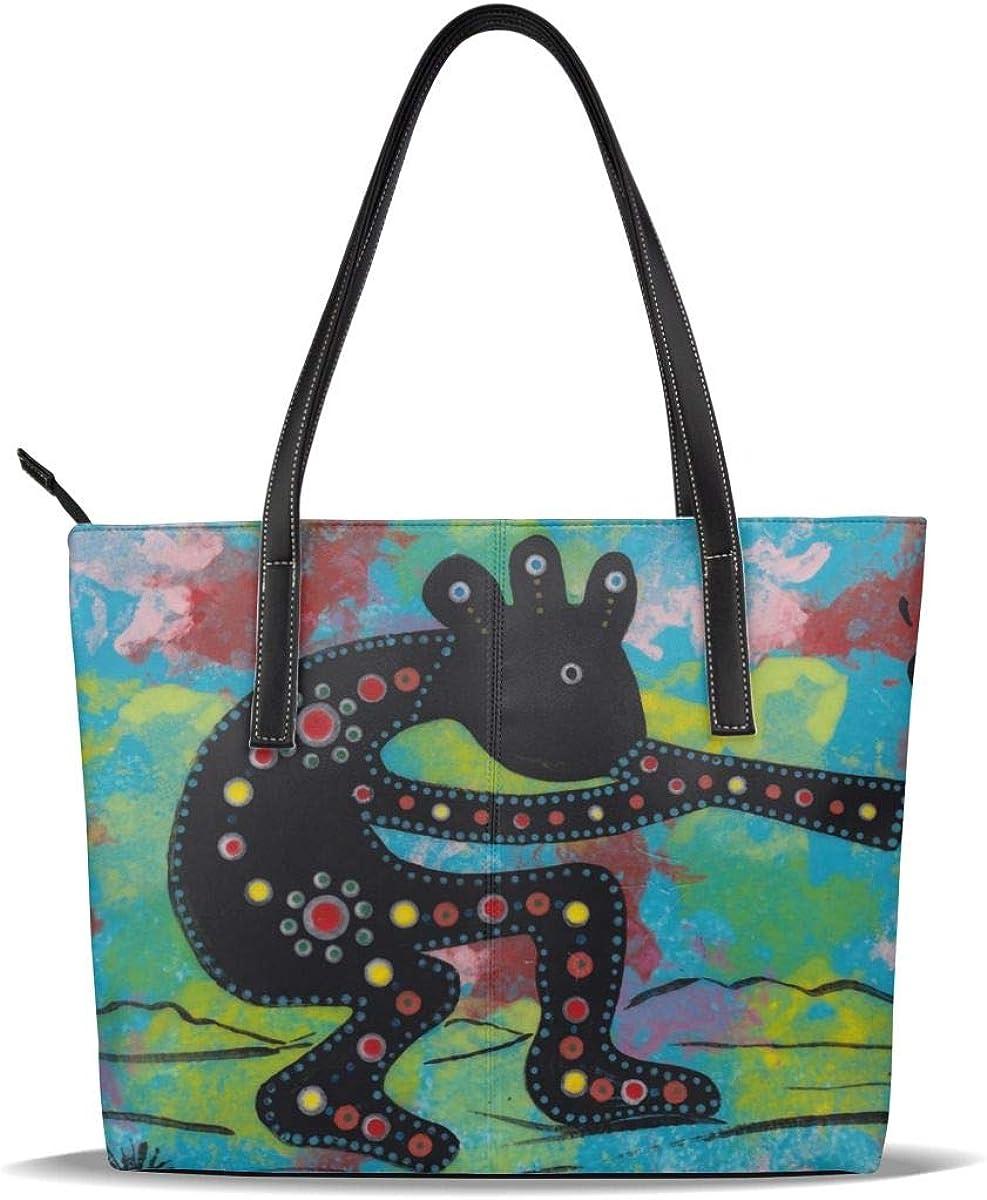 Kokopelli Selling Music Max 83% OFF Paingting Art PU Printed Leather Casual Pattern