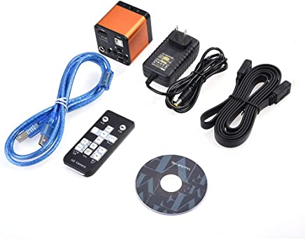 Akozon Industrial Microscope 21MP 1080P 60FPS HDMI Digital Industrial Microscope Video Camera 7-640X US Plug
