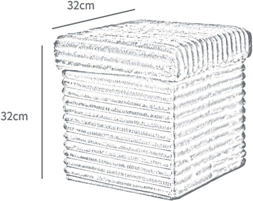 Tabourets GQIANG Pliant De Rangement Chaise De Vestiaire Multifonctionnel Chaise Boîte De Rangement Garde-robeTable Basse De Canapé32x32cm (Color : Gray) Brown