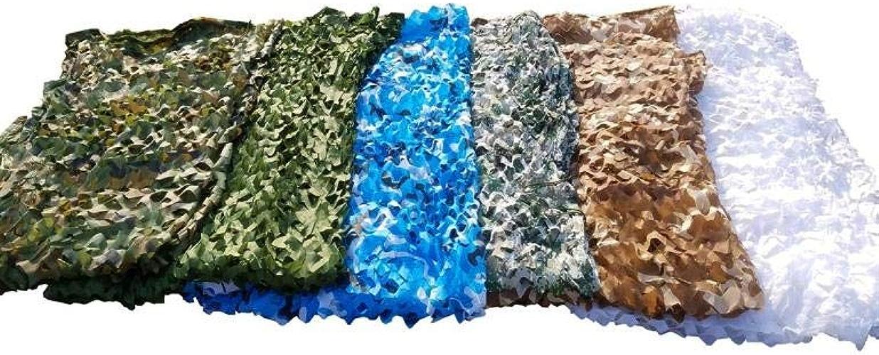 Camouflage De Fan Armée Extérieure Filet De Camouflage Anti-aérien Parasol Tente De Chasse Au Camping Tente Armée Filet De Camouflage des Bois Filet D'ombre Durable Et Léger,F-10 × 20M