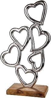 Gilde Escultura Moderna Figura Decorativa Hand Heart XL realizada en cer/ámica cer/ámica 45x15 cm