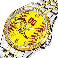 男性の人格ダイヤル&クリアウィンドウのためのカジュアルメンズ自動機械式時計高級ブランドカジュアルスポーツウォッチ 369. 女の子のための楽しいパーソナライズされたソフトボール腕時計