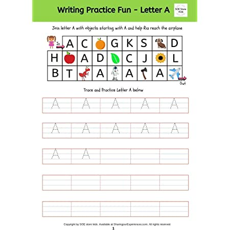 Buy SOE Store Kids Kid's Capital Alphabets Writing Activity Book Worksheets  For Nursery Includes Alphabets Puzzles -28 Pages Write Practice Capital  Letters Online At Low Prices In India - Amazon.in