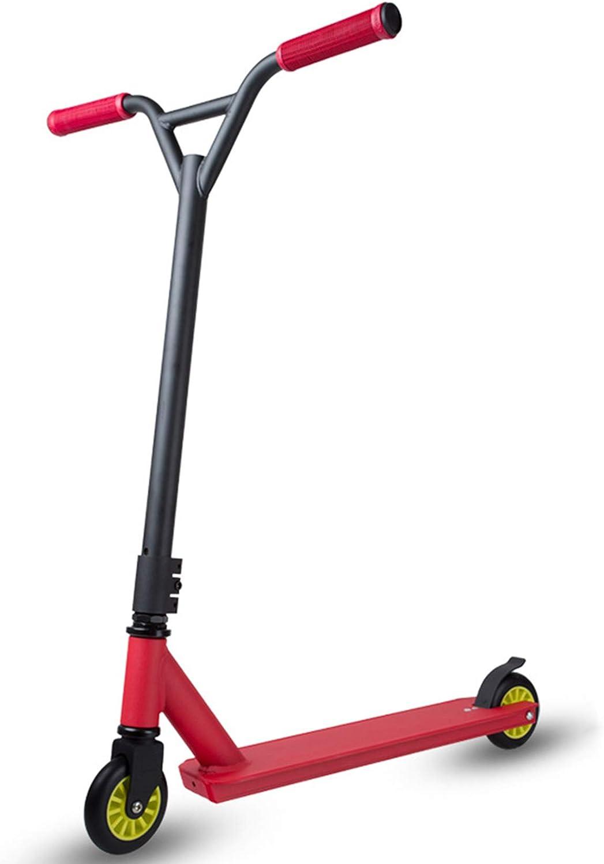 WYJJ Street Stunt Scooter con Ruedas de Poliuretano de 100 mm, 360 Spin Trick Jump Push Kick Scooter para niños de 8 años o más, Adolescentes y Adultos