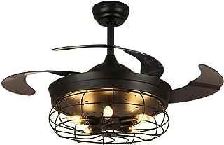 SILJOY Lustre Ventilateur de Plafond, Plafonnier Ventilateur Silencieux avec Lumières et Télécommande, Diamètre de 106.6c...