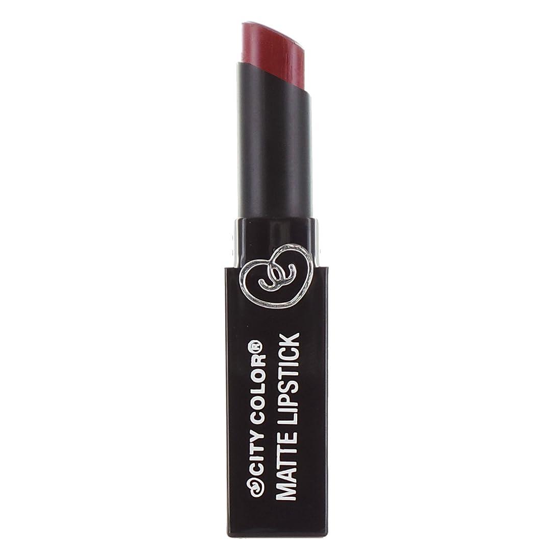 手紙を書く生産性バタフライCITY COLOR Matte Lipstick L0050C - Burgundy (並行輸入品)