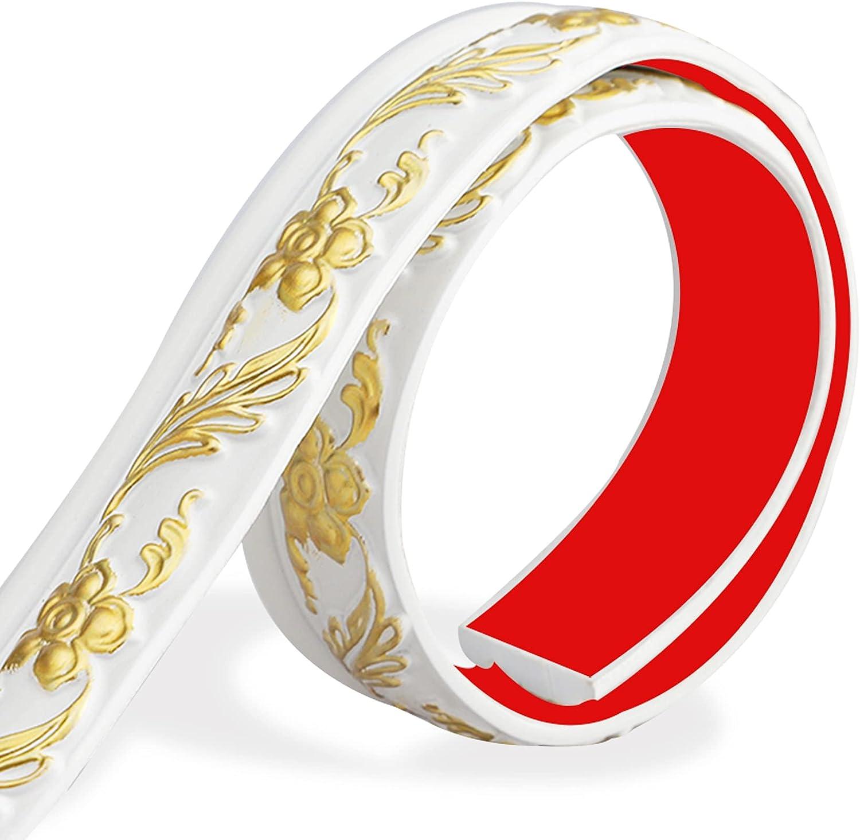Huaesem Max 82% OFF Flexible Molding Trim Max 70% OFF Self Decorative 3D Adhesive Crown